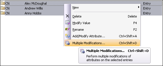 Running Multiple Modification Wizard