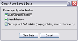Clean Auto-Saved Data