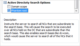 Active Directory Search Options