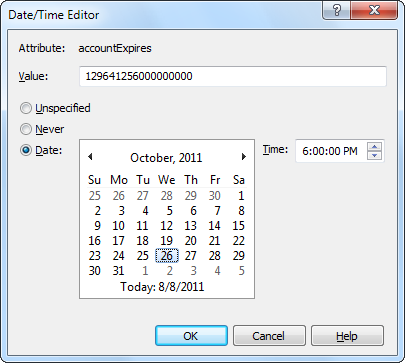 Date/Time Editor